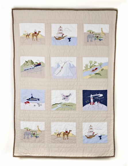 Adventures Patches Crib Quilt