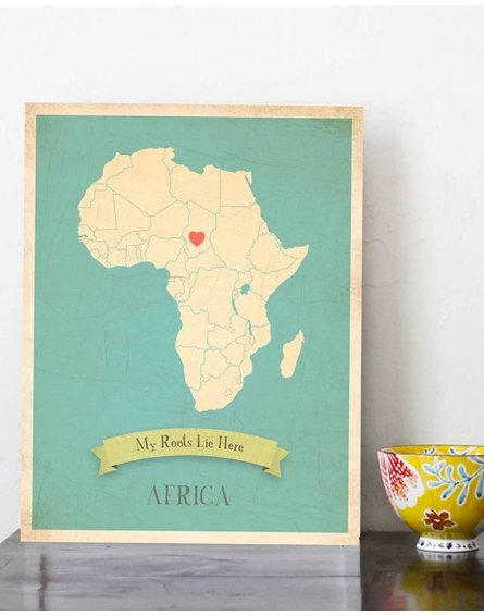Africa My Roots Continental Map Art Print
