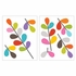 African Flowers Transfer Wall Decals