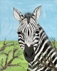 African Savanna Zebra Stretched Canvas Art
