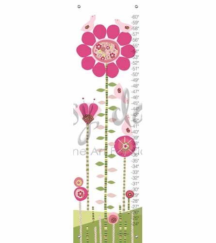 Afternoon Gossip in Pink and Green Growth Chart