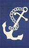 Ahoy Anchor Indoor/Outdoor Rug in Navy