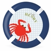 Ahoy Crabby Personalized Kids Plate
