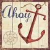 Ahoy Vintage Canvas Wall Art