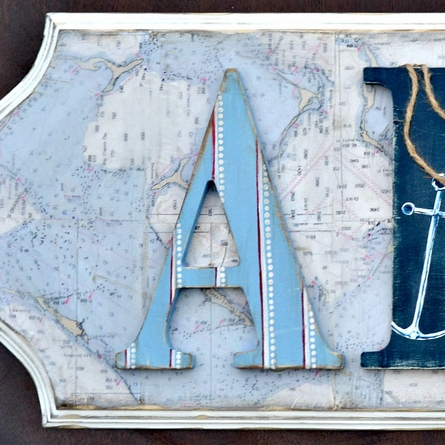 Ahoy Wall Plaque