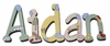 Aidan Barnyard Friends Hand Painted Wooden Hanging Wall Letters