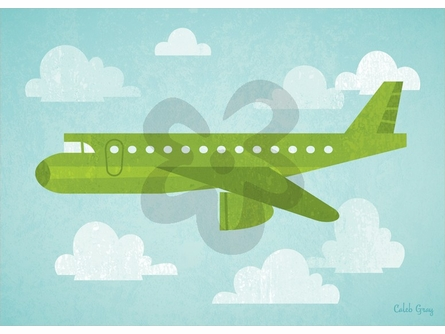 Airborne Airliner Canvas Wall Art