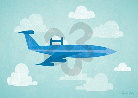 Airborne Jet Canvas Wall Art