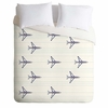 Airplanes And Stripes Lightweight Duvet Cover