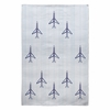 Airplanes And Stripes Flat Weave Rug