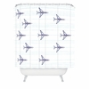 Airplanes And Stripes Shower Curtain