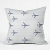 Airplanes And Stripes Throw Pillow