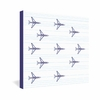 Airplanes And Stripes Wrapped Canvas Art
