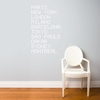 Airport in White Wall Decal