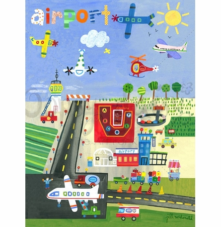 Airport Poster Wall Decal