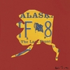 Alaska License Plate Map in Red Canvas Wall Art