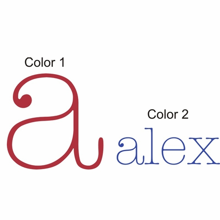 Alex Monogram Wall Decal
