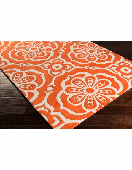 Alhambra Floral Rug in Poppy