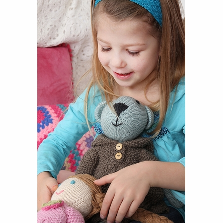 Alice Bear Hand-Knit Organic Stuffed Toy