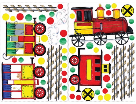 All Aboard Peel & Stick MegaPack Appliques