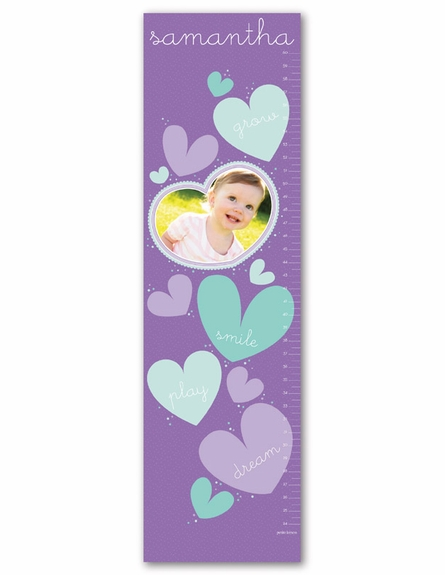 All About Love Personalized Photo Growth Chart