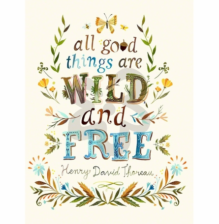 All Good Things are Wild and Free Canvas Wall Art