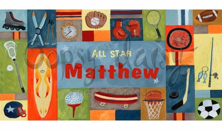 All Star Sports Canvas Wall Art