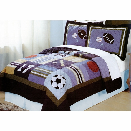 All State Quilt with Pillow Sham