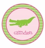 Alligator Gal Personalized Melamine Plate