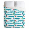 Alligator Love Aqua Duvet Cover