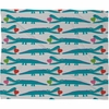 Alligator Love Aqua Fleece Throw Blanket