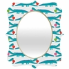 Alligator Love Aqua Quatrefoil Mirror