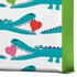 Alligator Love Aqua Wrapped Canvas Art