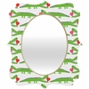 Alligator Love Quatrefoil Mirror