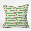Alligator Love Throw Pillow