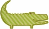 Alligator Shaped Rug