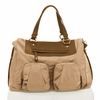 Allure Convertible Satchel Diaper Bag in Beige