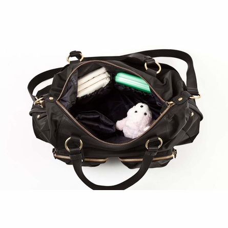 Allure Convertible Satchel Diaper Bag in Black