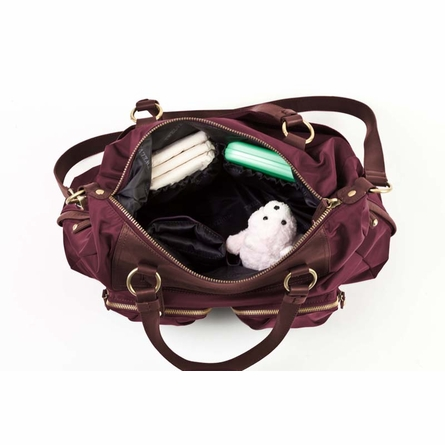 Allure Convertible Satchel Diaper Bag in Plum
