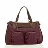 Allure Convertible Satchel in Plum