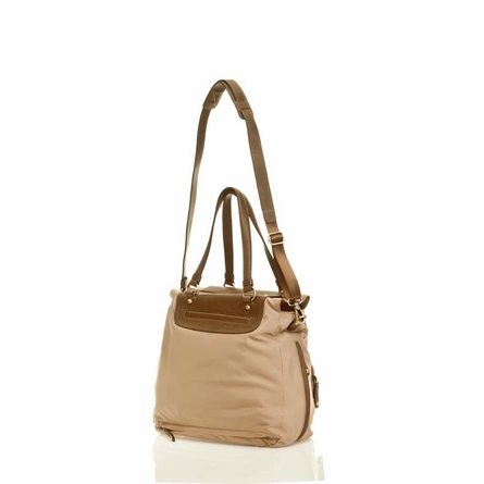Allure Tote Diaper Bag in Beige