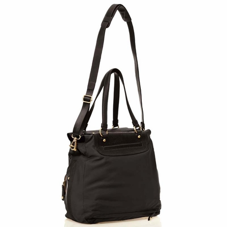 Allure Tote Diaper Bag in Black