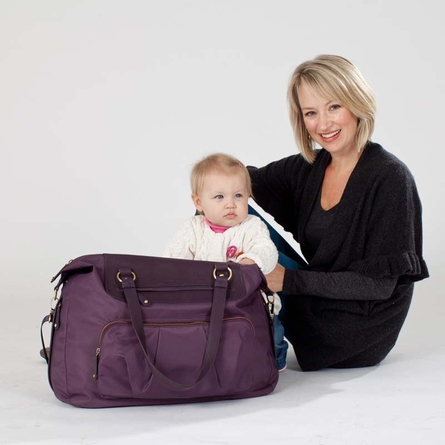 Allure Weekender Diaper Bag in Beige