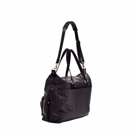 Allure Weekender Diaper Bag in Black