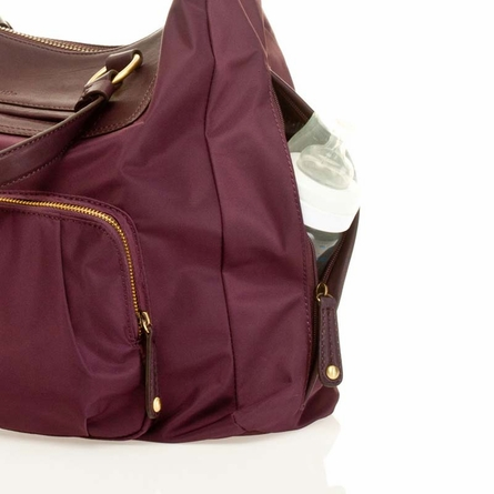 Allure Weekender Diaper Bag in Plum