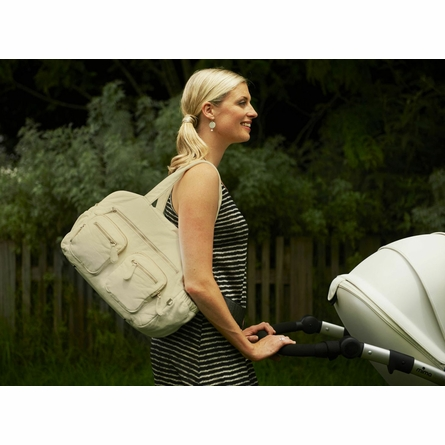 Almond Faux Lizard Carry All Diaper Bag