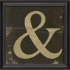 Alphabet Ampersand Framed Wall Art