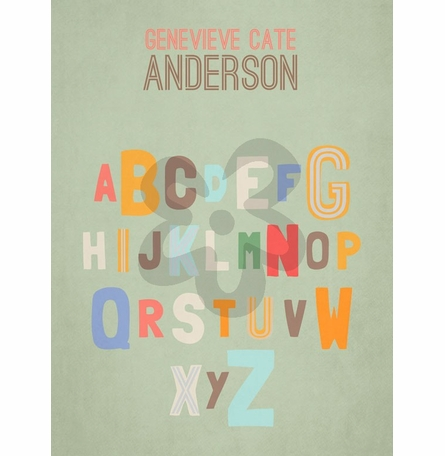 Alphabet Assortment Canvas Wall Art