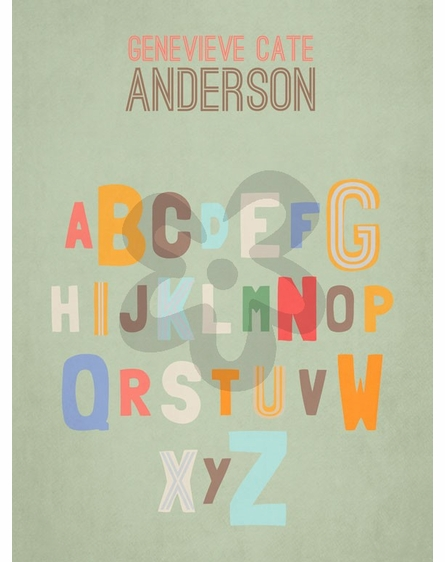 Alphabet Assortment Framed Art Print
