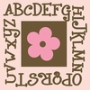Alphabet Flower Canvas Reproduction